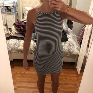 Audrey 3+1 Striped tight mini dress